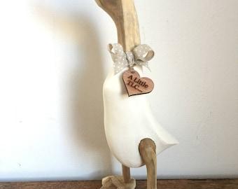 Natural TLC Puddleduck wooden duck