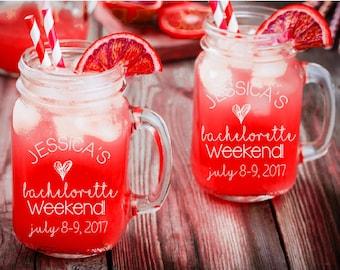 Bachelorette Party Mason Jar, Bachelorette Mason Jar, Bachelorette Party Favors, Personalized Mason Jar, Girls Weekend Mason Jar, Mason Jars