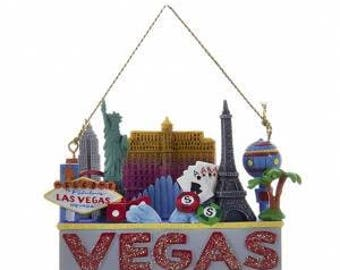 Las Vegas Ornament  Vegas Strip  Las Vegas Souvenir Vegas  Personalized Christmas Ornament
