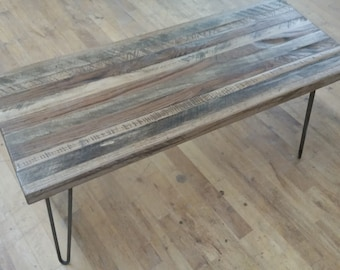 Bench, Wood Bench, Gnarly Bench, Rustic Reclaimed Wood Bench Reclaimed Wood Furniture