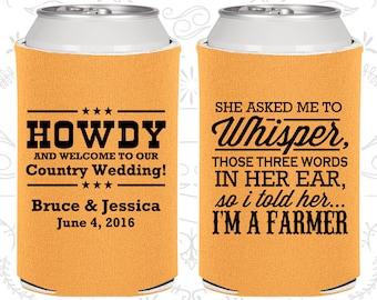 She Asked me to Whisper, Three little words in her ear,so I told her I am a farmer,Country Wedding Favors,Farm Wedding Favors (545)