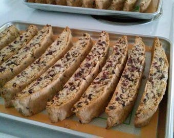 Biscotti with cran-raisin and almonds