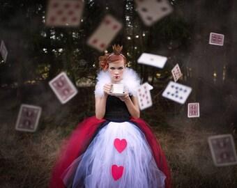 Queen of Hearts Tutu, Queen of Hearts, Alice in Wonderland, Cosplay Tutu, Costume Tutu, The Queen of Hearts