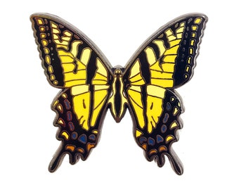 Enamel Pin - Butterfly - Tiger Swallowtail  - Natural Values - Ryan Berkley Illustration - Pin - Cloisonne -
