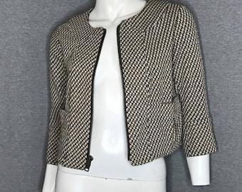 DIANE VON FURSTENBERG Printed Jacket Size: 4
