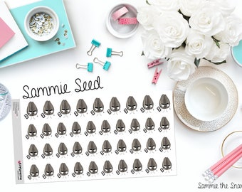 "SAMMIE SNARK SEED: ""Just No"" Paper Planner Stickers"