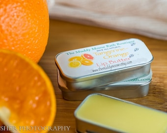 Natural Lip Balm - Flavored Lip Balm Tin -  Lip Butter - Fruity Lip Balm - Mint Lip Balm - Customized Lip Balm -  Customized Wedding Favor