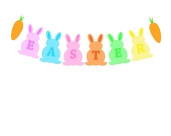 Easter SALE Bunny Banner