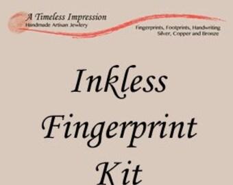 Inkless Fingerprint Kit, Fingerprint Jewelry, Fingerprint Necklace, Fingerprint Bracelet, Fingerprint Charm, Fingerprint Kit for Babies