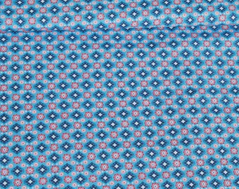 PROMO tissue Cotton sewing ORNAMENTS x50cm pink and blue flowers