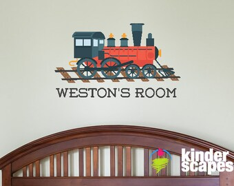 Personalized Train Wall Decal - Kids Wall Decal - Boys Train Decal - Printed Vinyl Decal - Train Sticker - Train Wall Decal - Boy Wall Decal