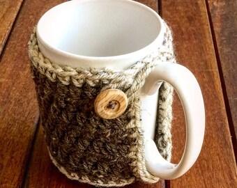 Coffee cup cozy, Crochet coffee and tea mug cozy