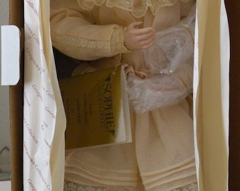 Pamela Phillips doll Sophie and her bru porcelain from the Yesterday's Dreams  collection
