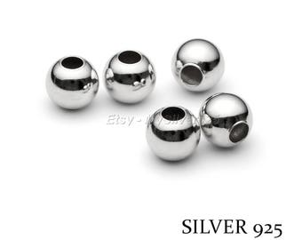 8mm - pricing - 1, 10 or 100 925 sterling silver beads