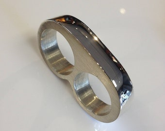 2 Finger Made to order Ring 925 Solid Sterling Silver