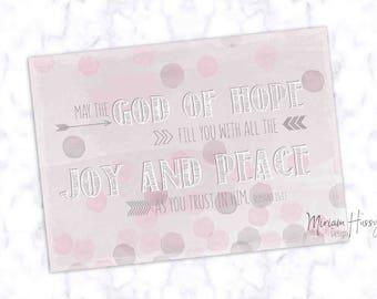 "Postcard ""God of Hope"""