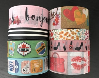 """CLEARANCE! 24"""" SAMPLES of craft smith assorted washi tape (M156)"""