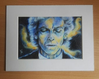 DOCTOR WHO  ~ 'Doctor, Let Go'. 4 x 6 inch Mounted Print