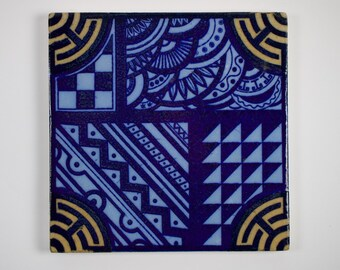 Antique 1880s Wedgwood Aesthetic Movement tile.