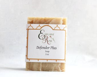 Defender Plus Soap| All Natural Soap| Handmade Soap| Cold Process Soap| Vegan Soap| Four Thieves Soap| Artisan Soap