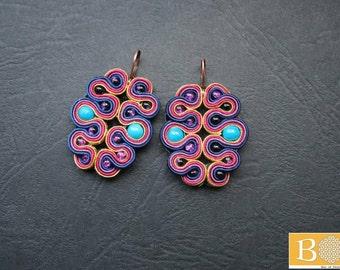 Butterfly effect soutache earrings
