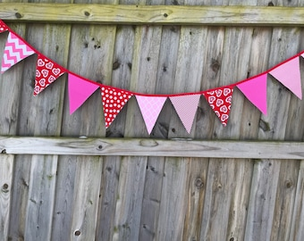 Valentine Sweetheart Pennant Banner XL