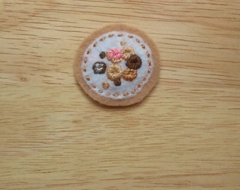 Donuts Badge (Patch, Pin, Brooch, or Magnet)