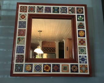 Mexican Talavera Tile 20 in. Beveled Accent Mirror