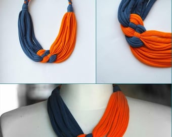 sacral and throat chakra multi strand necklace