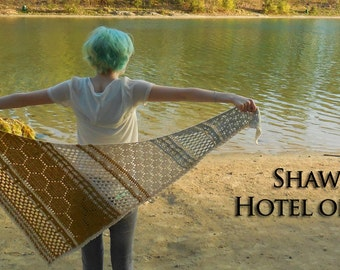 Hotel of Bees crocheted shawl pattern PDF