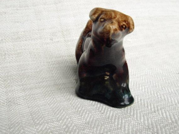 Hund Ornament, Vintage Keramik Tier, Glasiert Hund Figur, Geschenk Für  Hundeliebhaber, Kleinen Hund Statue, Wohnzimmer Dekor Idee, Tier Skulptur