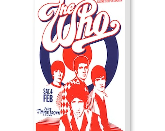 The Who - Concert Poster - Birdcage Portsmouth 1967