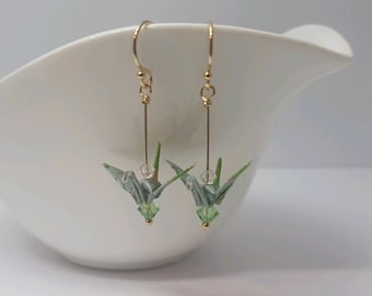 Origami Crane Earrings - Yukka