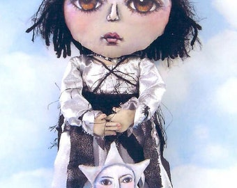SE433 - Cosma, Fabric Doll Pattern,  Sewing Cloth Doll Pattern - PDF Download by Susan Barmore