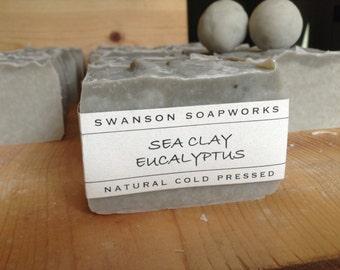 Eucalyptus Sea Clay, All Natural Soap, Handmade Soap Bars