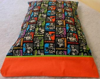 Pillowcase Star Wars with Orange Cuff Standard Size