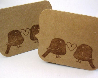 Rustic Wedding Place Cards, Love Bird Place Cards, Eco Friendly Buffet Tent Style Cards, Engagement Party Place Cards, Party Buffet Cards