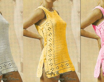 1960's Sirdar Swimsuit Coverup PATTERN
