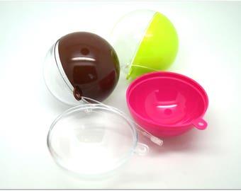 Set of 3 balls decoration milticolores - diameter 5cm