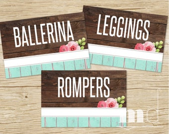 DotDotSmile Clothing Style Cards, DDS Style Card 4x6, Facebook Album Covers Online Sales Name Tags, Rustic Wood Shabby Chic INSTANT DOWNLOAD
