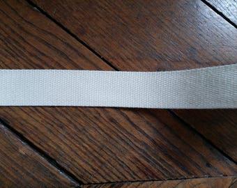Natural cotton flat braid 3 cm