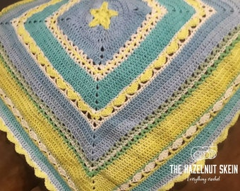 Blue Circus Star Baby Blanket