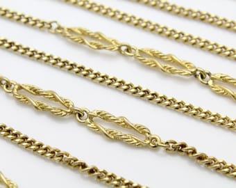 """Vintage Goldtone Flapper Style Long Chain Necklace MONET 54"""". [281]"""
