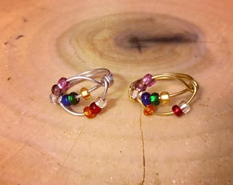 Chakra Spinner Ring, Worry Ring, Anxiety Ring, Stress Ring, Meditation Ring Color Beads