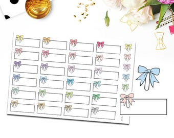 BOW PAPERCLIP LABEL/Planner Stickers for Erin Condren Planner/Happy Planner/Personal Planner/Travelers Notebook/Appointment/Quarter box