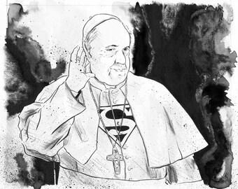 Pope Francis - Original Illustration