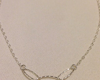 Sterling Silver Chain Necklace : chic modern jewelry