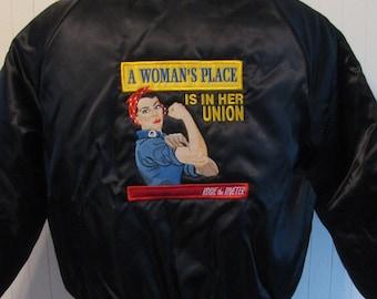 Satin, Rosie the Riveter Jacket