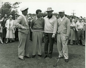 "Vintage golf photos / black and white print / ""Demaret, Burke, Snead and Hogan May 1953"" - GO-07"
