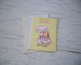 Vintage Sunbonnet Kids American Greetings Card